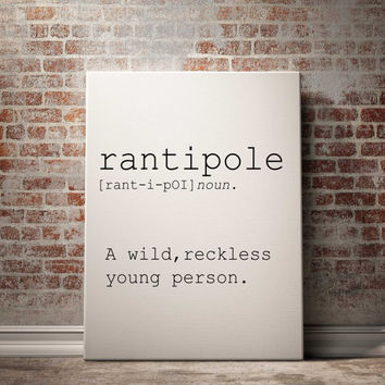 Rantipole definition Printable poster Printable art Wall art Instant download modern Home decor Print set Name Definition INSPIRATIONAL ART