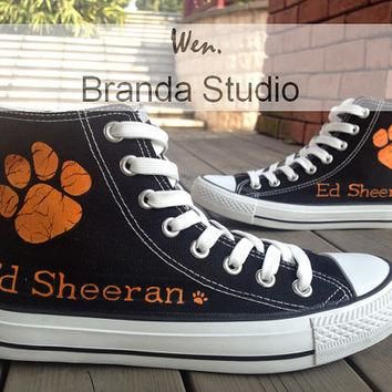 ED Sheeran Shoes KIds Studio Hand Painted Shoes 45.99Usd,Paint On Custom Converse Shoe