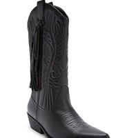 Faux Leather Tasseled Boots