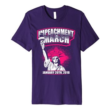 Impeachment March Women 2018 Shirt Statue Liberty Pink Hat