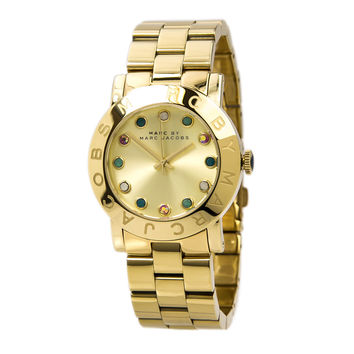 Marc by Marc Jacobs MBM3215 Women's Amy Dexter Gold Dial Gold Tone Steel Watch