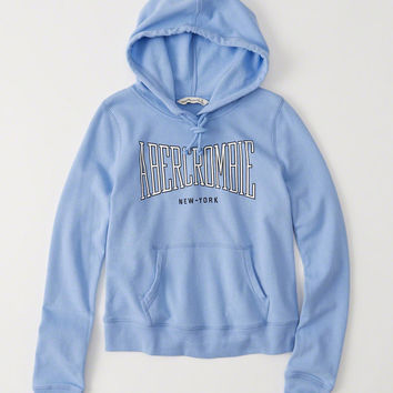 Womens Logo Graphic Hoodie | Womens Tops | Abercrombie.com