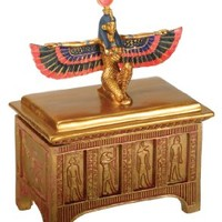 Egyptian Isis Trinket Box - Collectible Figurine Statue Figure Egypt