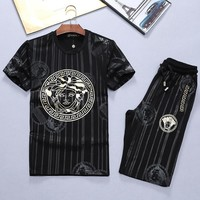 Versace Fashion Casual Shirt Top Tee Shorts Set Two-Piece-7
