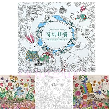 Treasure Hunt and Coloring Book An Inky Alice in Wonderland By Shen
