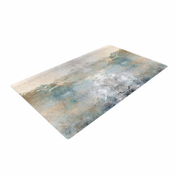 "Pia ""Heaven II"" Mixed Mediia Abstract Woven Area Rug"