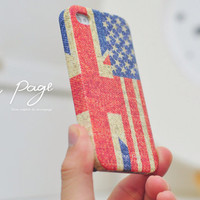 The special list for Aroop Mukharji : USA ( America ) and UK flag on texture 8 cases