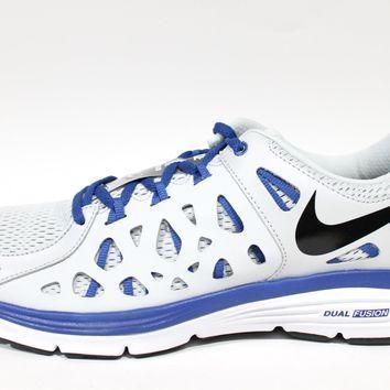 Tagre™ Nike Men's Dual Fusion Run 2 Platium/Blue Running Shoes 599541 010