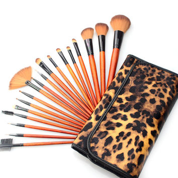 18-pcs Make-up Brush Leopard Makeup Brush Sets Brush [9647072079]