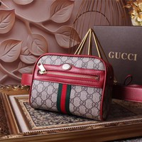 GUCCI GG SUPREME LEATHER WAIST PACK BAG