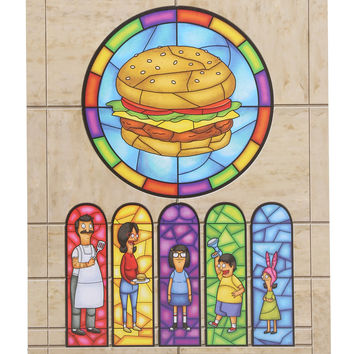 Bob's Burgers Family Stained Glass Window Wood Wall Art