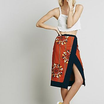 Free People Womens Songbird Wrap Skirt