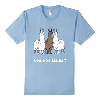 Como Se Llama? Funny Spanish Shirt What Is Your Name T Shirt