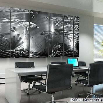 Life Aquatic XL / Metal Abstract Art By Jon by statements2000