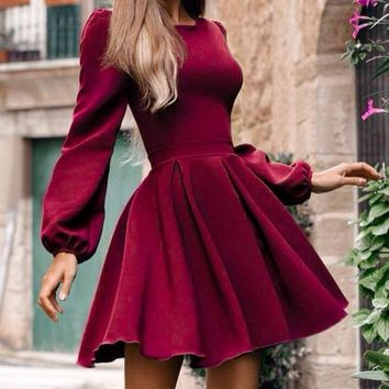Valerie Lantern Sleeve Dress