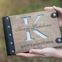 Wedding Guest book, Nautical wedding, Wood Wedding Guestbook, Sea style, Anchor