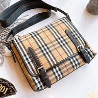 Burberry Fashion new plaid shopping leisure shoulder bag crossbody bag