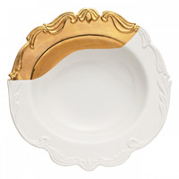 Oh So Fountainbleu Dipped Gold Serving Bowl