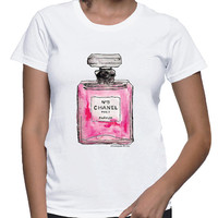 Chanel Perfume Inspired T-shirt; Pink (14-004)