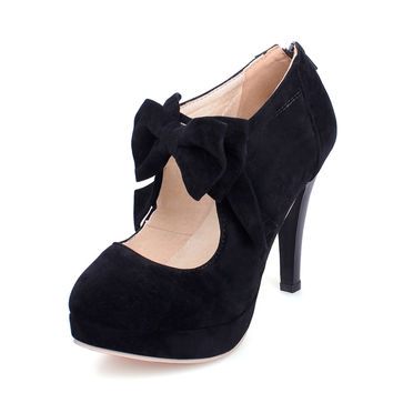 new  Platform High Heels Women Pumps Spring Summer Autumn Bowtie Women Shoes
