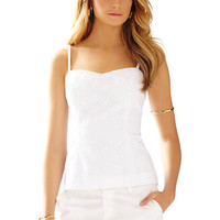 McCallum Fitted Eyelet Spaghetti Strap Top - Lilly Pulitzer