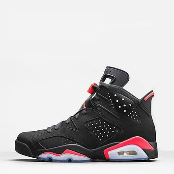 Air Jordan 6 Retro Infrared Alternate Sample Black Cat AJ6 Sneakers