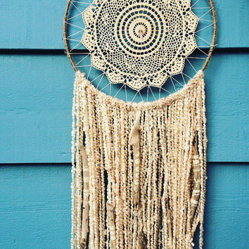 Bohemian moon phases drift wood dream catcher