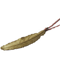 Feather Braided Thread Necklace