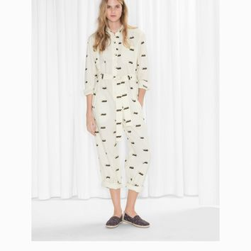 & Other Stories | TOMS Cotton Jumpsuit | Beige