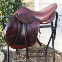 """17"""" Antares Full - BUFFALO LEATHER Close Contact Jumping Saddle with $350 of accessories"""