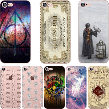 Harry Potter Case for iphone 6 6S 5s SE 7 7plus 6plus 6Splus Soft Silicone TPU Phone Back Cover Capinha Coque