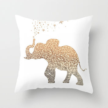 Sequin Elephant Throw Pillow : Best Gold Sequin Pillow Products on Wanelo