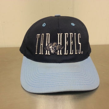 Vintage 90's UNC Tar Heels Made By Signature Snapback Hat NCAA Basketball Football Rams University of North Carolina Chapel Hill