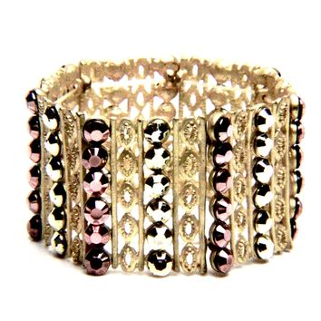 Gilded Lattice Stretch Bracelet
