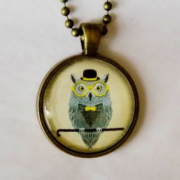Wise Owl Necklace. 18 Inch Chain.