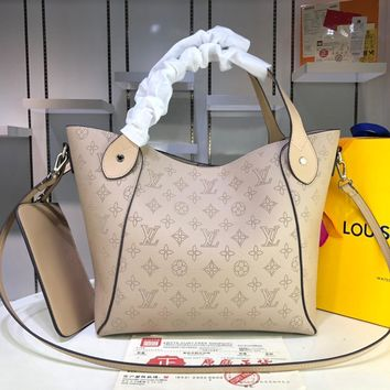 DCCK 1586 Louis Vuitton LV Double design Hina Mahina Big Handbag Khaki