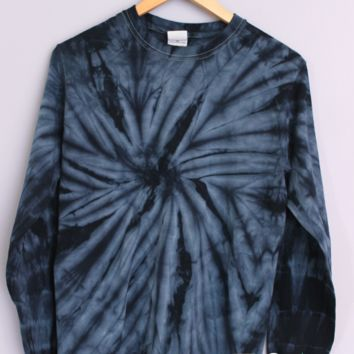 Midnight Blue Tie-Dye Long Sleeve Tee
