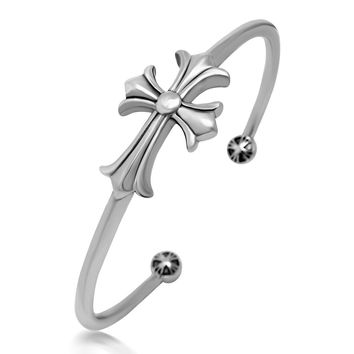 Gift Stylish Great Deal Hot Sale Awesome Shiny New Arrival Vintage Cross Rack Titanium Bangle Bracelet [6542633731]