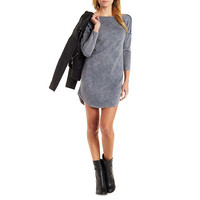 Mineral Wash Pullover Shift Dress