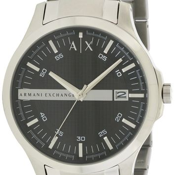 Armani Exchange Stainless Steel Black Dial 46MM Watch AX2103