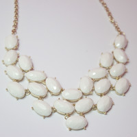 Meagan White Statement Necklace