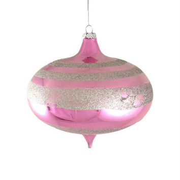 Christmas Ornament - Bubblegum Pink Striped Onion