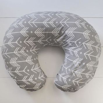 Pillow Cover | Gray Arrow Little Adventurer Crib Baby Bedding Set
