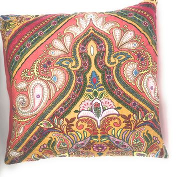 Tache 2 Piece Hanging Gardens Red Floral Cushion Throw Pillow Covers 18 X 18""