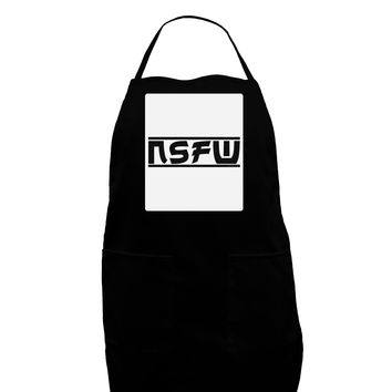 NSFW Not Safe For Work Panel Dark Adult Apron by TooLoud