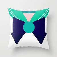 Sailor Neptune Bow Throw Pillow by House of Jennifer