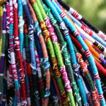 Threads of Hope bracelets & anklets - Handmade - Colorful