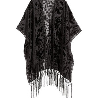 Burnout-patterned Poncho - from H&M
