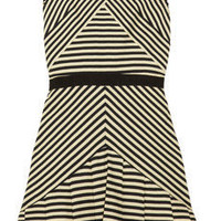 Discount Elizabeth and James Vanessa striped cotton-blend dress | THE OUTNET