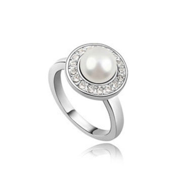 New Arrival Shiny Gift Jewelry Korean Simple Design Vintage Strong Character Stylish Accessory Pearls Princess Ring [4989613764]